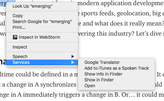 New Google Translator Menu in Hgh Sierra