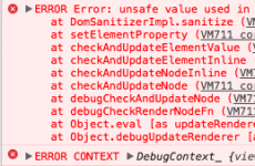Angular Error: unsafe value used in a resource URL context