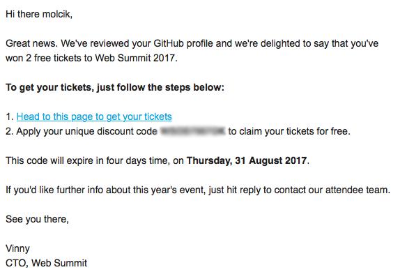 Web Summit Free Tickets