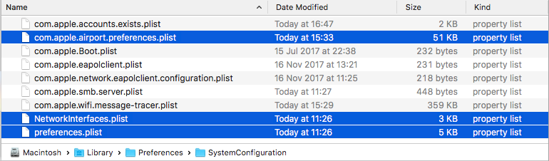 Mac OS X wifi BSSID issue - files to delete