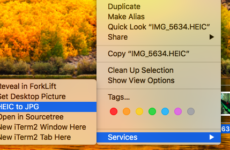 Convert HEIC to JPG with Mac OS X Right-Click Integration