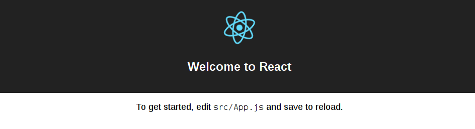 ReactJS CLI (creat-react-app) index page screenshot