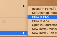 Converting HEIC to PNG on Right-Click for Free