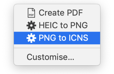 Convert PNG to ICNS on Right Click [Mac OS]