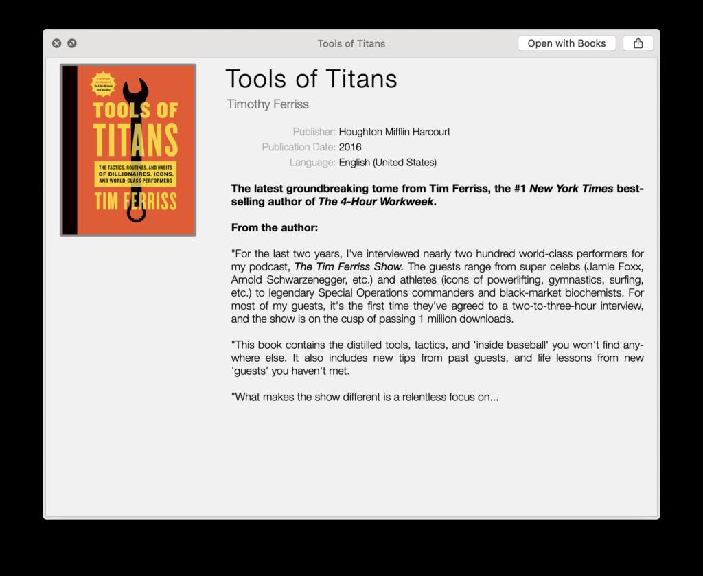 ePub quicklook plugin for Mac OS X
