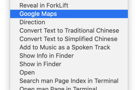 Right Click to Open Selected Text in Google Maps